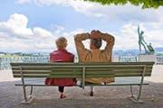 Schöne Aussichten: Die Sparsummen der Rentner werden heute mit 2,8 Prozent verzinst. (Bild: Keystone / Gaetan Bally)