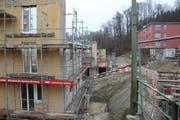 Die erneuerten Wohnungen sollen im April 2019 bezugsbereit sein. (Bild: Lucien Rahm (Luzern, 29. März 2018))