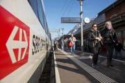 Am neuen Kantonsbahnhof Altdorf halten mit der Neat bis zu sechs Züge täglich. (Bild: SBB/Gian Veitl)