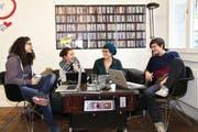 Diese vier Frauen stehen hinter Queer Office (von links): Yasemin Salman, Aurelia Meier, Corinne Imbach und Kathy Bajaria. (Bild: PD)
