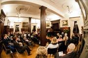 Am Kammermusikfestival «Klang» werden u.a. aufspielen: das Leipziger Streichquartett mit Fabio di Casola, das Amar-Quartett und das Trio Ramon Jaffé. (Bild: Archiv Neue LZ)