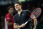 Roger Federer feiert Weihnachten in der Schweiz, hier im Rahmen des «Match for Africa» vom vergangenen Sonntag in Zürich.