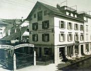 Was nun sein Ende nimmt, hat 1911 an der Bahnhofstrasse 8 in Zug begonnen. Hier nahm Gründer Josef Speck-Brandenberg seinen Druckerei-betrieb auf. (Bild: PD)