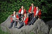 Die Geschwister Fischer: von links: Fredy, Franz, Judith, Markus und Armin. (Bild Pius Amrein)