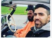 Selfie aus einem Mercedes-Benz 300 SL. (Bild: Facebook / @Bushido)