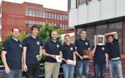 Das Cemios-Team der Hochschule Luzern (von links): Simon Wüest (Zürich), Christoph Hardegger (Gams), Lukas Rüdlinger (Luzern), Benno Fleischli (Hildisrieden), Mario Felder (Buchrain), Tobias Plüss (Horw) und Carlos Komotar (Zürich) (Bild: PD)