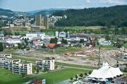 Die Baustelle im Schweighof in Kriens im August 2015. (Bild: Boris Bürgisser / Neue LZ)