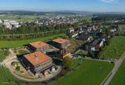 Luftaufnahme von Rathausen im September 2016. (Bild: PD/Josef Ehrler/panorama-factory.ch)