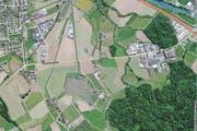 Die Kantonsstrasse zwischen Schachen und Inwil wird an fünf Wochenenden gesperrt. (Bild: map.search.ch)
