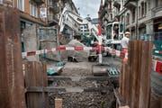 Seit 2015 wird im Hirschmattquartier gearbeitet. Nun starten die Arbeiten am Kauffmannweg. Im Bild: die Frankenstrasse. (Bild: Boris Bürgisser / Neue LZ)
