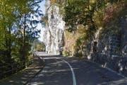 Die Kantonsstrasse im Gebiet Rotschuo/Imseli in Gersau wird im September für 4 Wochen gesperrt. (Bild: Google Maps)