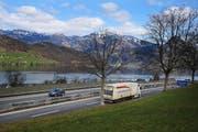 Blick auf die A2 bei Buochs. (Symbolbild Corinne Glanzmann / Neue NZ)