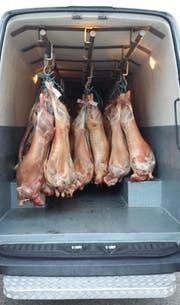 Über eine Tonne Lammfleisch wollte der Niederländer über die Grenze schaffen. (Bild: PD)