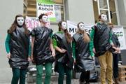 Protest von Schülerinnen und Schüler der Kanti Musegg. (Bild: Dominik Wunderli / Neue LZ)