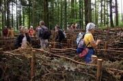 Der Luzerner Klimaweg enthält das grösste Holzlabyrinth der Zentralschweiz. Es steht auf dem Sonnenberg. (Bild: PD)