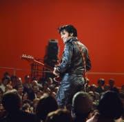 Elvis' triumphales Comeback nach Jahren ohne Konzert im US-Fernsehen 1968. (Bild: Frank Carroll/Getty (Burbank, 27. Juni 1968))