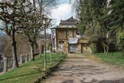 Die obere Etage dieser städtischen Liegenschaft nahe der Museggmauer ist besetzt. (Bild: Dominik Wunderli (Luzern, 9. April 2018))