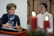 Nicola Neider, Leiterin Migration-Integration der römisch-katholische Kirche Luzern (links) und Andrea Franziska Meyer, Pastorassistentin des Seelsorgeraumes Urner Oberland. (Bilder Pius Amrein / Neue LZ)