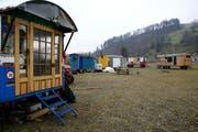 Die Wagenburg im Gebiet Schlund bei Kriens muss geräumt werden. (Bild Chris Iseli/Neue LZ)