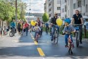 Die Luzerner Regierung will Velowege fördern. Auf dem Bild sind Velofahrer auf dem «Freigleis» unterwegs von Luzern nach Kriens. (Bild: Pius Amrein (Luzern, 13. Mai 2017))