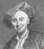 Julien Offray de La Mettrie 1750, in einem Stich von Georg Friedrich Schmidt. (Bild: Alamy)