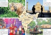 Das Reiseland Indien zieht jährlich fast 50'000 Schweizer Touristen an. (Bild: Getty/Keystone)