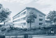 Für 4 Millionen Franken kann das Schulhaus Bühlmatt erweitert werden. (Bild: Visualisierung: PD)
