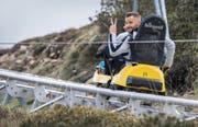 Für ihn sieht die Welt wieder positiver aus: Haris Seferovic will nun mit der Schweizer Nationalmannschaft Vollgas geben. (Bild: Keystone/Samuel Golay)