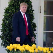 US-Präsident Donald Trump. (Bild: Shawn Thew/EPA (Washington, 5. April 2017))