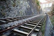Die Bahn zum Hotel Gütsch könnte bereits Ende Juli wieder eröffnet werden. (Bild: Archiv Neue LZ)