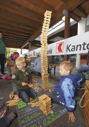 In der Spielecke ging es ebenfalls hoch zu und her. (Bild: André A. Niederberger / Neue NZ)