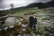 Adrian Borgula mit seiner Partnerin Gaby Müller, fotografiert 2008 auf der Allmend. (Archivbild Neue LZ)