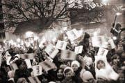 Vor 42 Jahren konnten die Zuger zum letzten Mal einen Bundesrat feiern. Auf dem Bild in Cham. (Bild: Staatsarchiv des Kantons Zug / Rupy Enzler)