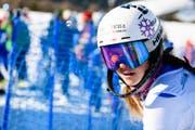 Aline Danioth fährt bei der Junioren-WM im Slalom auf Rang 3. (Bild: Manuel Lopez / JWSC Davos (31. Januar 2018))