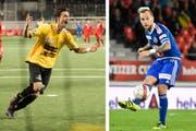 Shkelqim Demhasaj (links) hat einen Vertrag beim FC Luzern unterschrieben, Markus Neumayr verlässt den FCL in Richtung Türkei. (Bilder: Keystone)