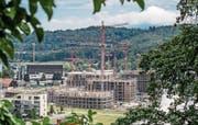 Zentrumsnaher Wohnraum ist gefragt: In Kriens, auf dem Gebiet Luzern Süd, entsteht zurzeit die Grossüberbauung «Schweighof». (Bild: Pius Amrein (Kriens, 27. Juni 2017))