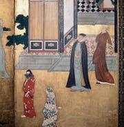 Das fremde Aussehen der Missionare aus Europa (rechts) faszinierte im damaligen Japan. Die Fotografie zeigt das Werk eines anonymen japanischen Künstlers aus dem 17. Jahrhundert. Bild: Werner Forman/Getty