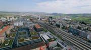 Die Stadt Zug (im Blick vom Parktower Richtung Baar) ist die attraktivste Gemeinde der Schweiz. (Bild: Stefan Kaiser / Neue ZZ)