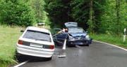 Die Unfallstelle auf der Hergiswaldstrasse in Kriens-Obernau. (Bild: Luzerner Polizei)