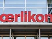 Logo am Sitz der OC Oerlikon in Pfäffikon (Archiv) (Bild: /KEYSTONE/GAETAN BALLY)
