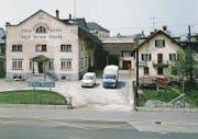 Dritter Firmensitz der «Paul Etter Söhne» beim Bahnhof an der Baarerstrasse 37 in Zug, nach 1970. (Bild: Firmenarchiv Etter Zug)