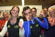 Die beiden Führenden in der Gesamtwertung Daniela Matter und Pedro Carvalho Cardoso. (Bild: PD)
