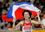 Ihr droht eine lebenslange Sperre: Maria Sawinowa, die 800-m-Goldmedaillengewinnerin der Olympischen Spiele 2012 in London. (Bild: AP Photo/Kin Cheung)