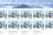 Briefbogen der neuen Cabrio-Briefmarke. (Bild: PD)