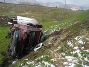 Die Unfallstelle in Bennau. (Bild Kantonspolizei Schwyz)