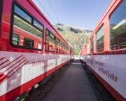 Für sie ist zurzeit kein Durchkommen auf der Bahnstrecke durch die Schöllenen: Zugskompositionen der Matterhorn Gotthard Bahn (Symbolbild) (Bild: pd)