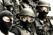 Mitglieder der Spezialeinheit Luchs standen in Andermatt im Einsatz. (Archivbild Philipp Schmidli)
