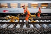 Die SBB planen den Ausbau des Schienenetzes in der Zentralschweiz. Kritikern geht das allerdings nicht schnell genug. (Bild: Keystone/Martin Ruetschi)