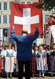 Noch ist am 1. August jeweils der Schweizerpsalm der Hit. (Bild: Steffen Schmidt/Keystone)