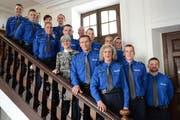 Sie wurden 2014 vereidigt: Neue Polizistinnen und Polizisten für das Luzerner Korps. (Bild: pd)